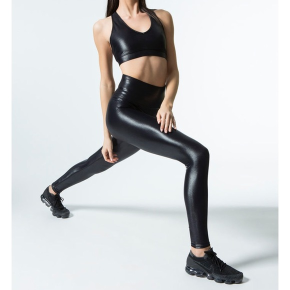 Carbon38 Pants - High rise carbon liquid workout leggings